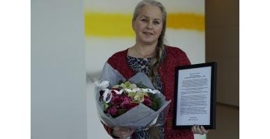 Målfrid J. Frahm Jensen mottar ytringsfrihetspris